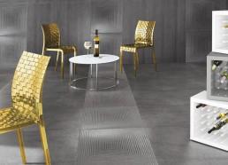 Cemento / Rasato + Cassero Antracite / 60x120 + Rug Antracite / 60x60