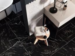Marmorea / Port Laurent / 75x150 / 75x30 / Mosaico Lisca Bianco Statuario