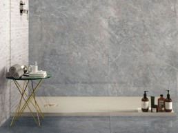Purity / Imperial Grey / Lux / 120x120 + Statuario 3D line / 32x45