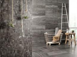 Reverso 2 / Black / 60x60 / 30x60 / Mosaico Bricks Patinato