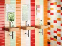 Bevelled / Rojo Biselado BX / Crema Biselado BX / Verde Biselado BX / Naranja Biselado BX / Balnco Biselado BX / 10x20