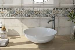 Elegant / Blanco Mosaica / 15x30