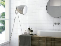 Liso Flat / Blanco Brillo / 10x20