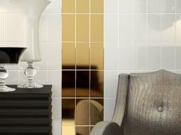 Liso Flat / Blanco + Ora Brillo / 10x20