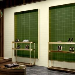 Monocolor / Verde Botella Brillo + Marfil Brillo / 10x10
