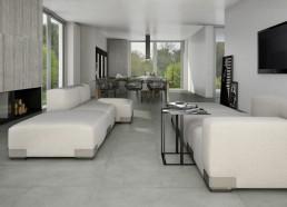 Cemento / Rasato Grigio / 60x60 + Cassero Grigio / 60x120