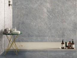 Purity / Imperial Grey / Lux / 120x120 + Statuario 3D line / 32x45