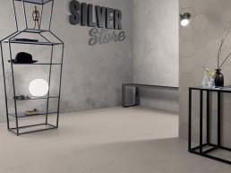 Silver Stone / Greige / 45x90 / Esagona Mix