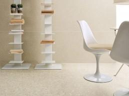 Terrazzo / Caolino Maxi / 60x120 + Caolino Mini / 60x120