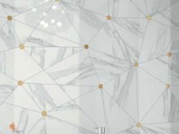Jewels / Calacatta Reale JW 02 / 120x120 + Calacatta Reale JW 02 / Gold Insert