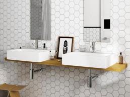 Scale / Hexagon White / 12,4x10,7