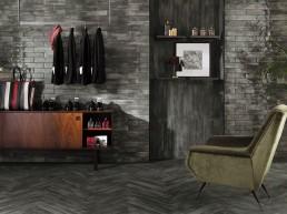 Brickell / Grey / Floor Matt 7,5x60 + Wall Gloss 7,5x30