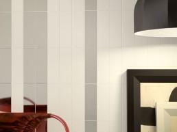 Liso Flat / Blanco + Plata Brillo / 10x30