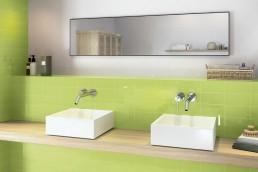 Liso Flat / Verde Brillo / 10x20